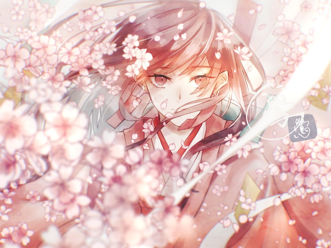 春よ来い Illust of 鷽 medibangpaint 春 girl sakura 美しい