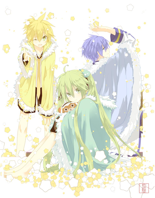 ☆★☆ Illust of 白継 KAITO hatsunemiku KagamineLen VOCALOID star