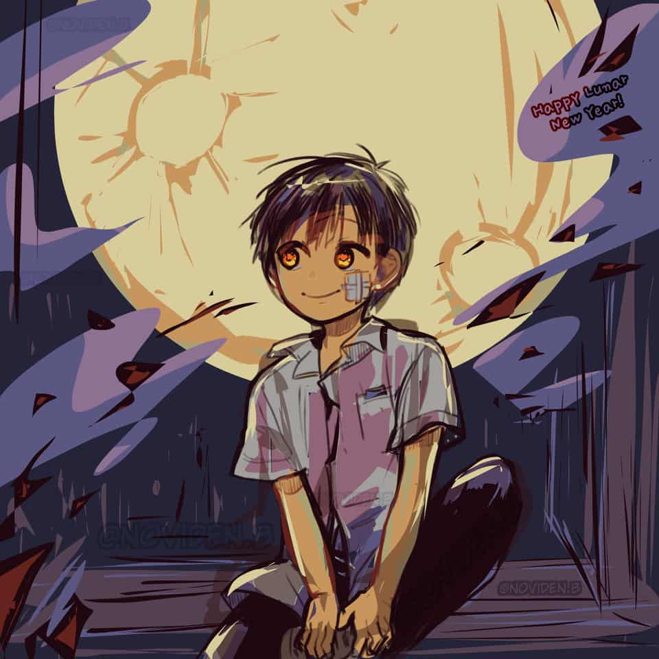 Happy Lunar New Year 2020! #jshk Illust of noviden Lunar manga jshk hanako Toilet-boundHanako-kun 花子くん 地縛少年花 花子くんアニメ 柚木普
