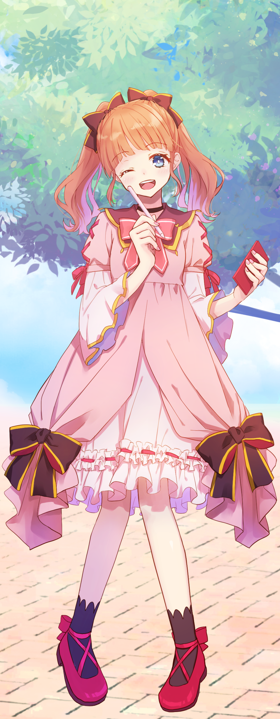 sketch! Illust of 餅月はるか PASTEL_SKETCH2020 girl pink