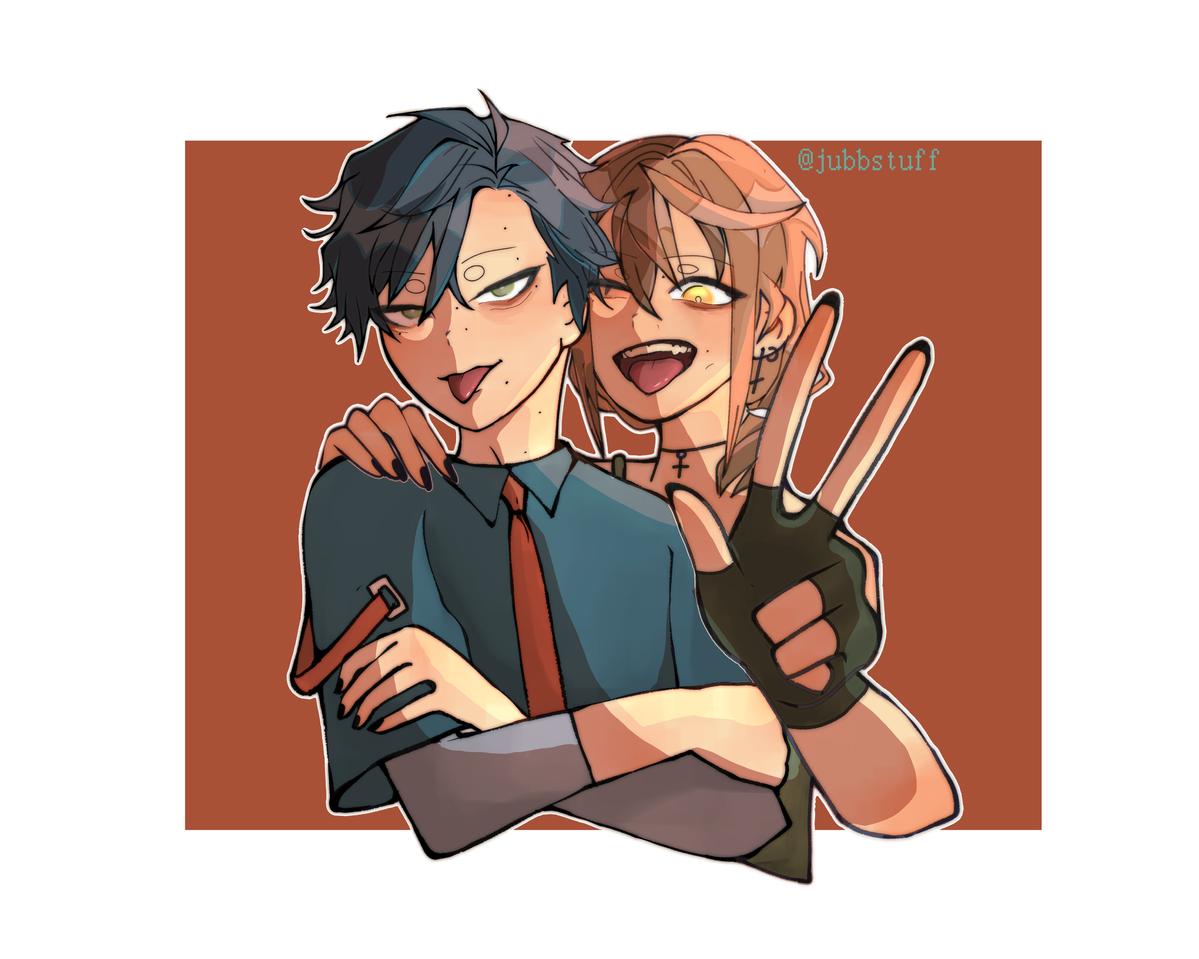 couple Illust of its_namizo medibangpaint anime couple love cute grunge oc