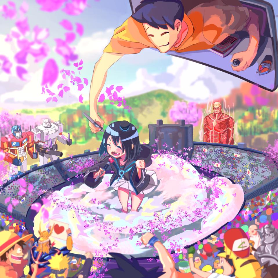 Summer Blossom  Illust of Halozen illustration girl お絵描き カラフル enjoydrawing