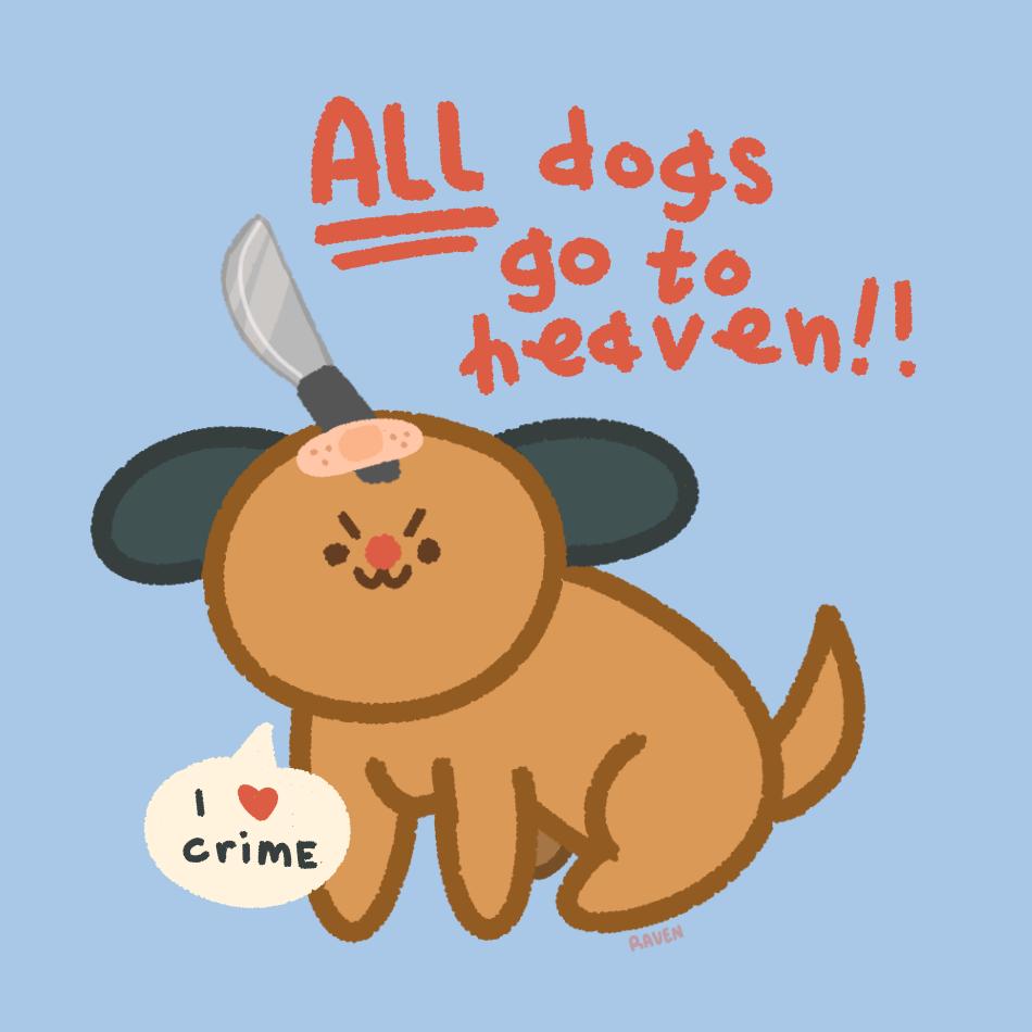 All Dogs Go To Heaven 2 Illust of ravenistired medibangpaint iPad_raffle