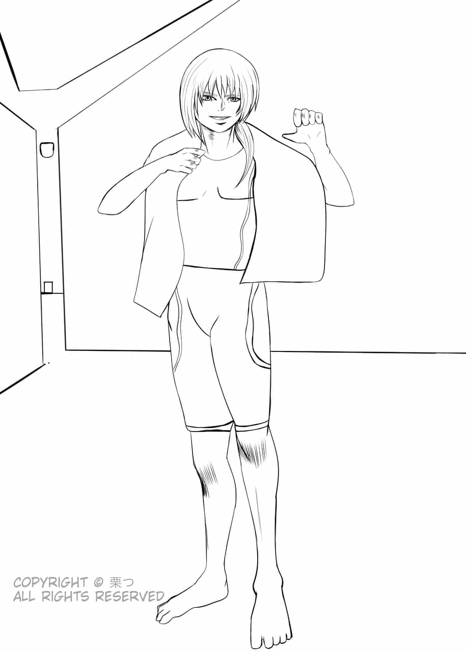 Practice (Jiang with fitness wear)  Illust of 栗つ🌰 Post_Multiple_Images_Contest anime illustration animeart digital original art oc manga