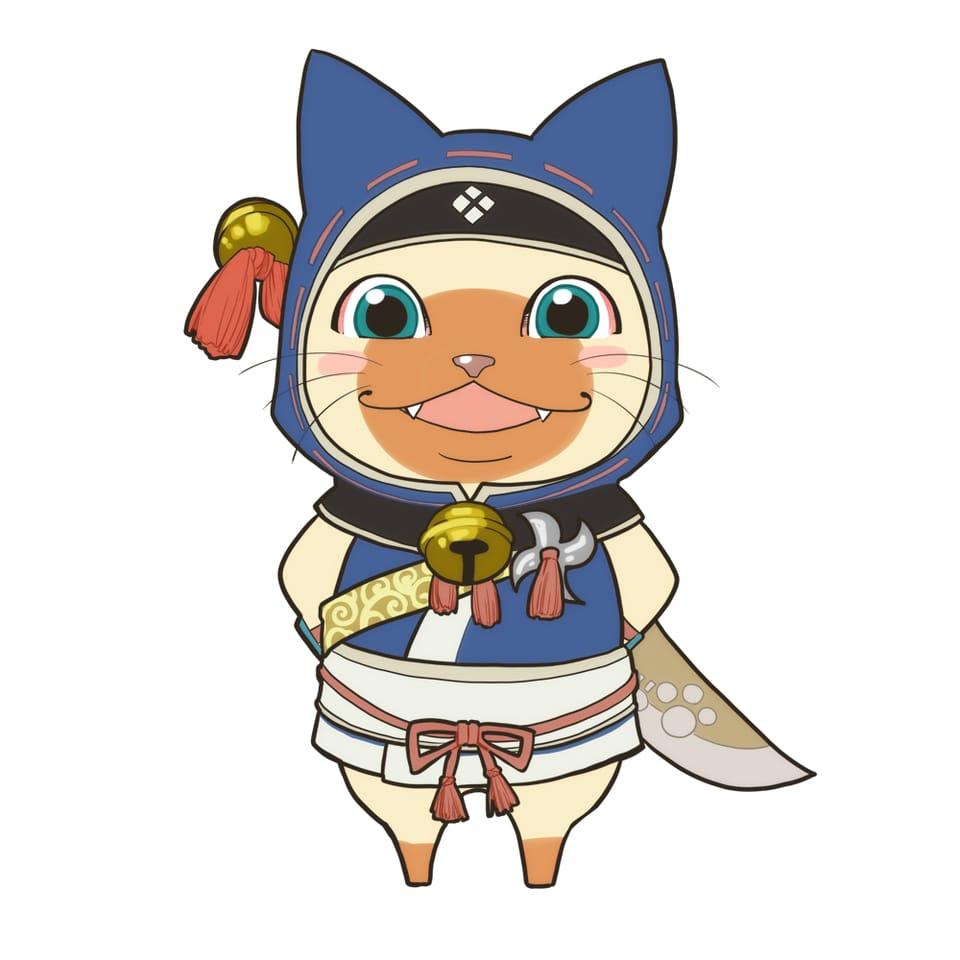 太っちょアイルー Illust of まっくろくろな 鈴 cat アイルー ninja fanart MonsterHunter