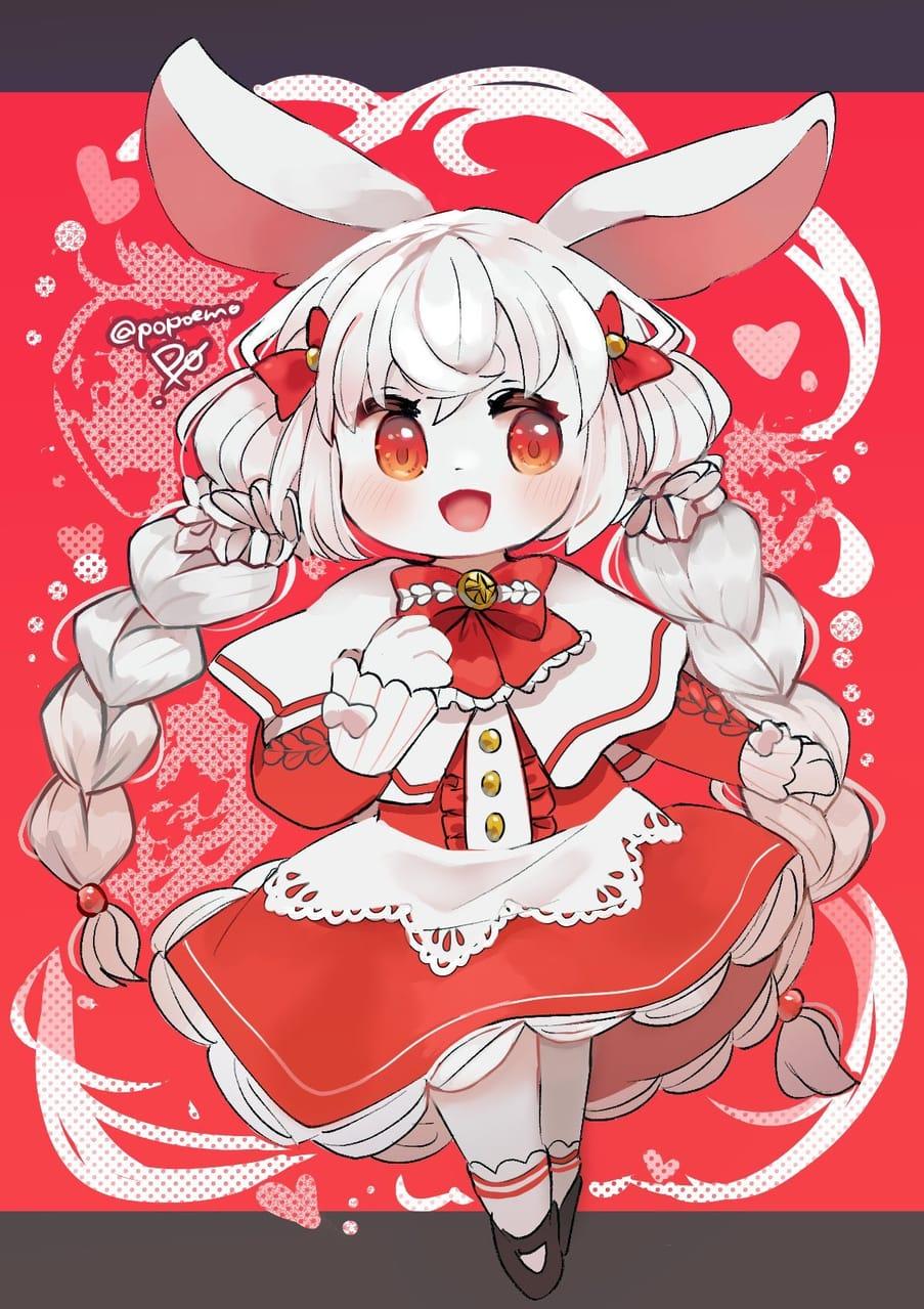 Illust of po! bunny 獣人 furry rabbit
