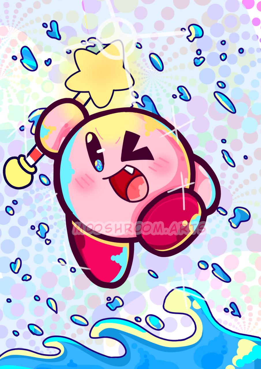 . - The star of the show - . Illust of 🍄mooshroom🍄 medibangpaint Kirby'sDreamLand