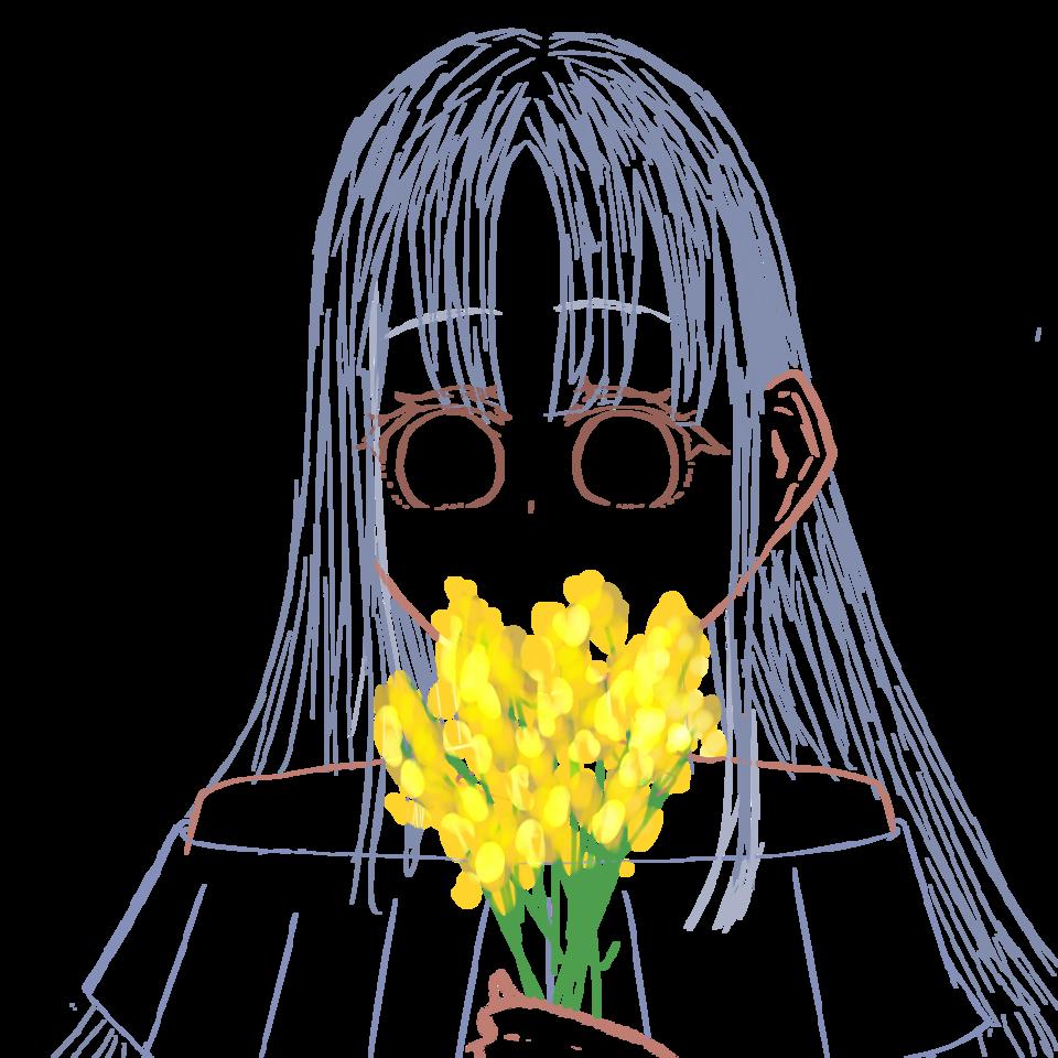 えっと Illust of 桜木 れる@低浮上 お花 girl ミモザ oc