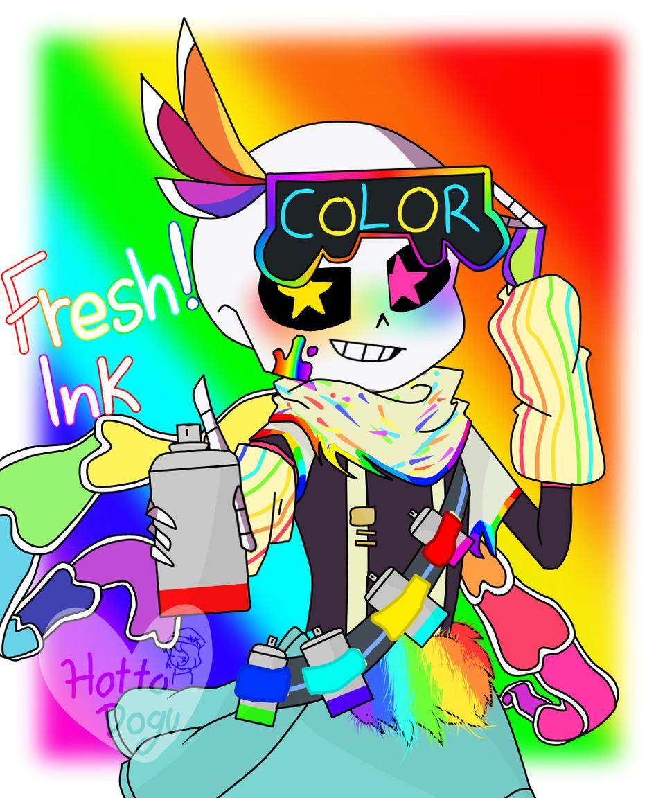 Fresh! Ink Illust of hotto dogu medibangpaint FreshInksans FreshInk