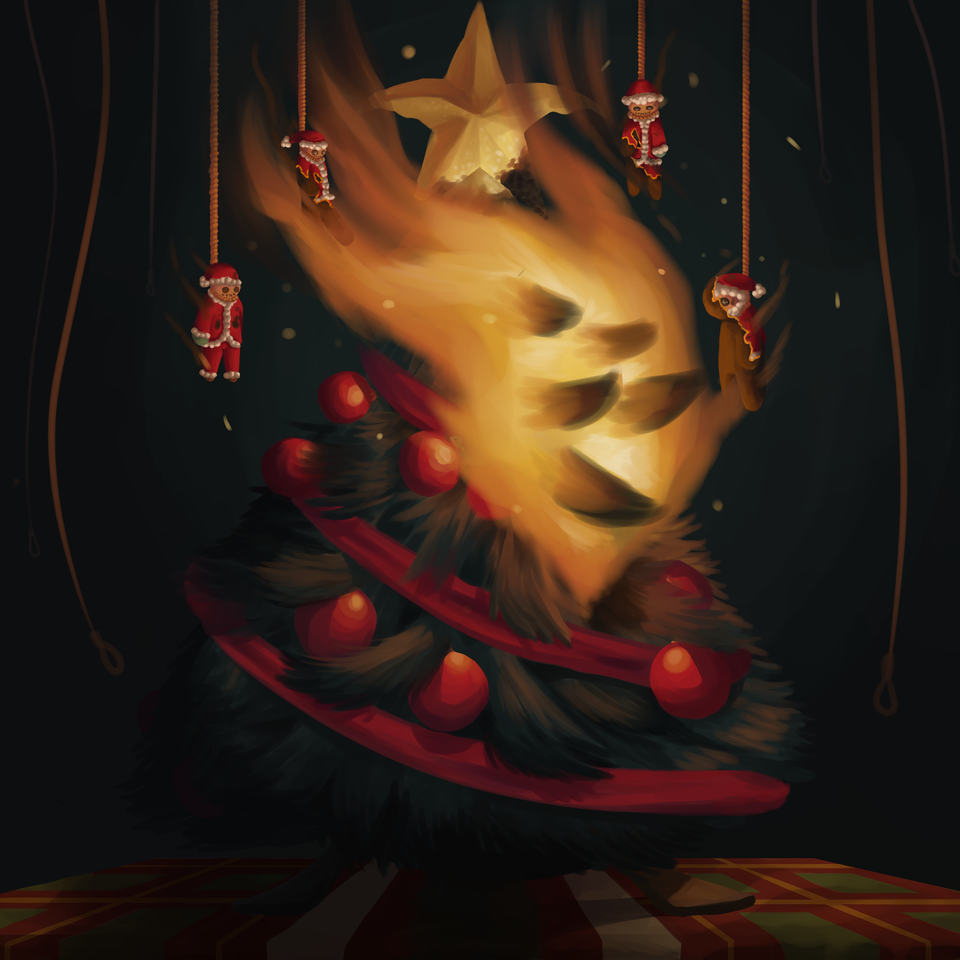The Beautiful Tree Illust of Anawello December2020_Contest:Santa medibangpaint Christmas