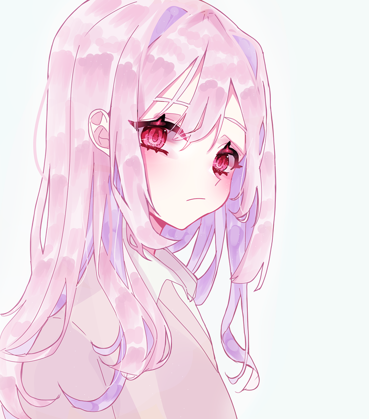 >><< Illust of 음.. medibangpaint girl kawaii pink
