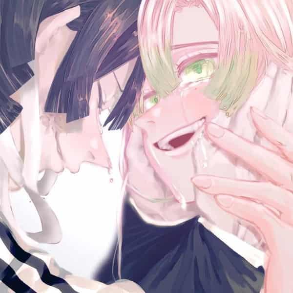 君が好きだ。 Illust of 不穏七味 DemonSlayerFanartContest KanrojiMitsuri KimetsunoYaiba IguroObanai