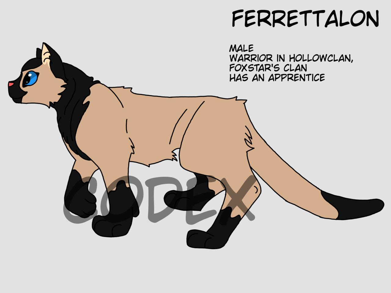 FerretTalon Illust of HeadHonchoCodex medibangpaint HeadHonchoCodex cat Warriors furry boy dark Ferret warriorcats oc