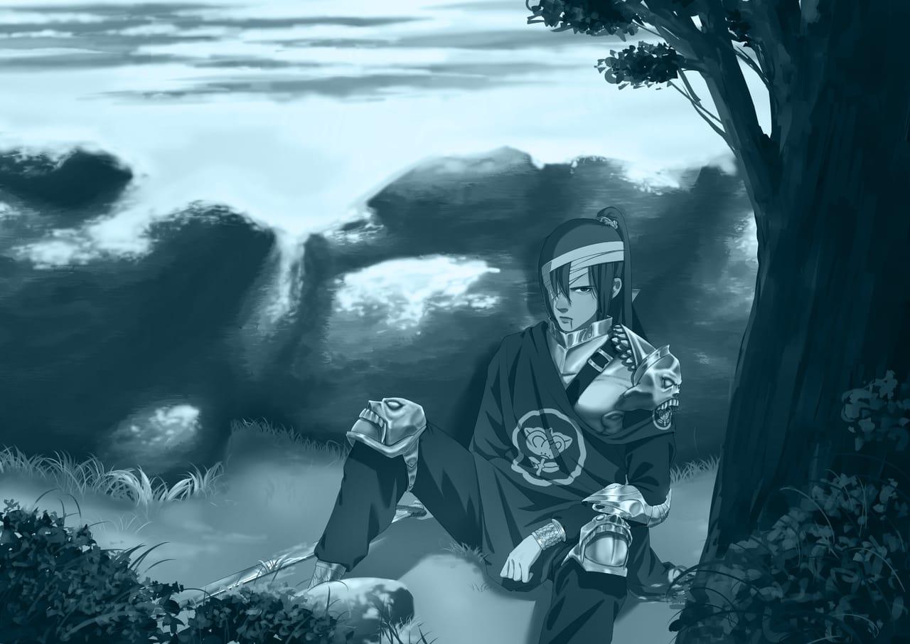 心灰意冷 Illust of 杲源 May2021_Monochrome 人物 painting 画画 original 雪景