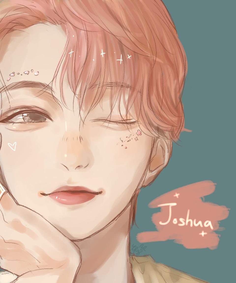 SEVENTEEN - Joshua Illust of 蠢兔 medibangpaint