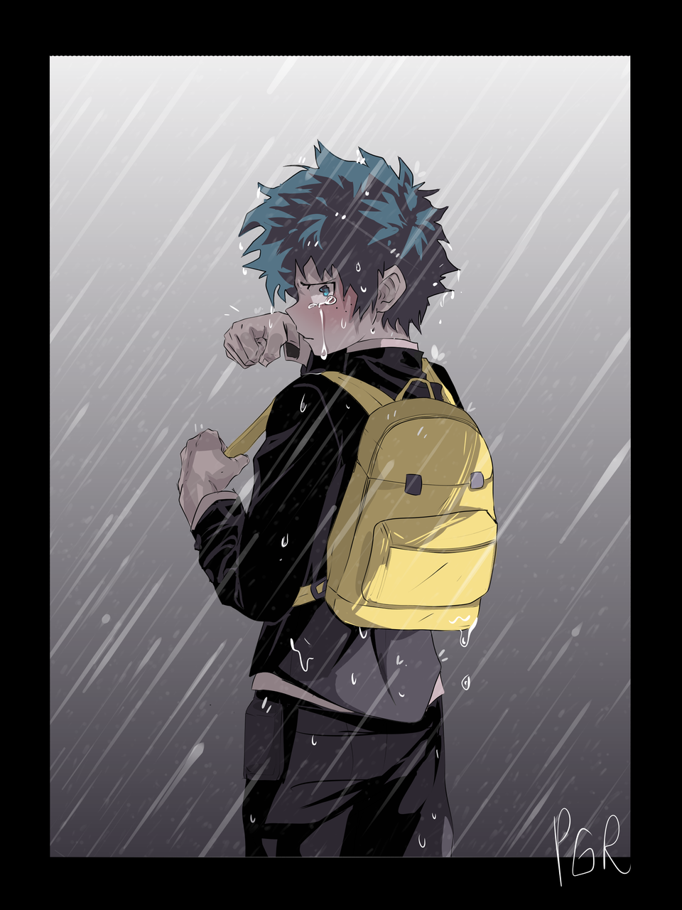 Rain wander's Illust of PogoRabbit MyHeroAcademia Izuku_Midoriya