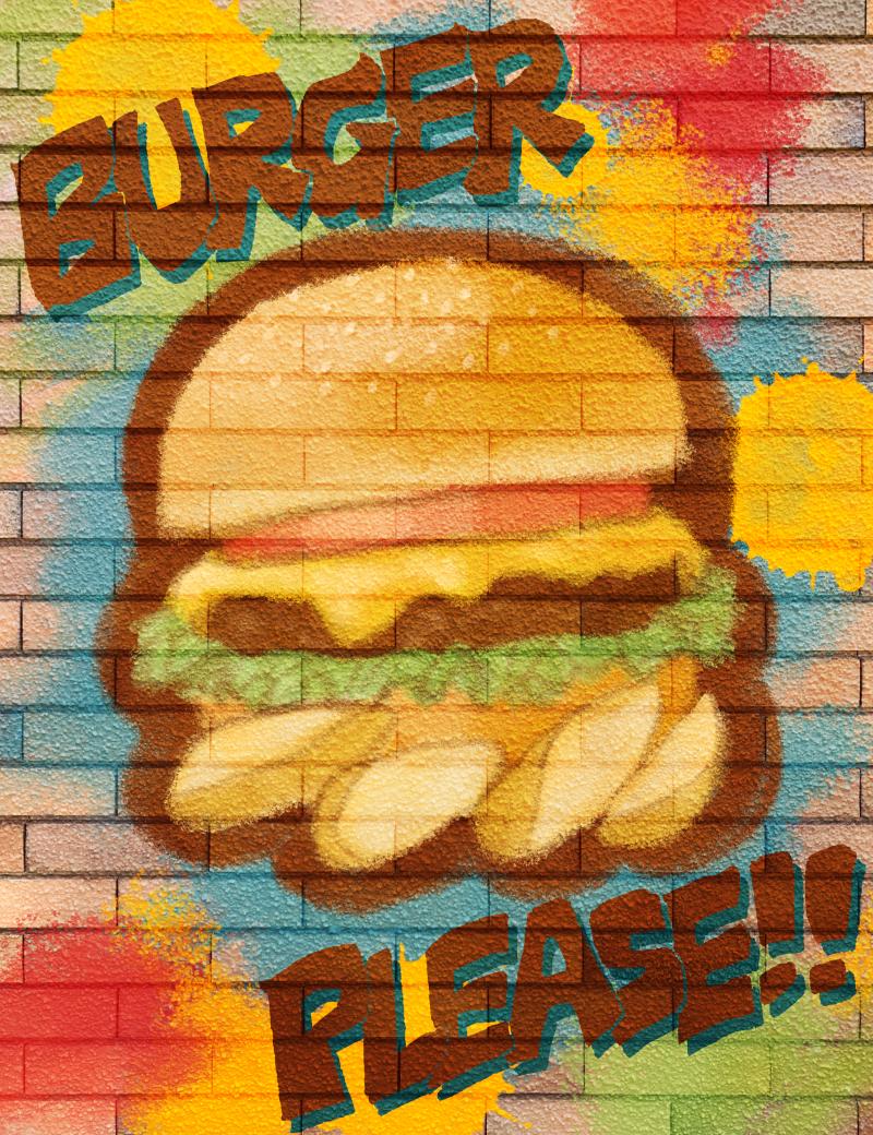 Street Art Illust of エノリオ June2020_Contest:Street_Art ハンバーガー