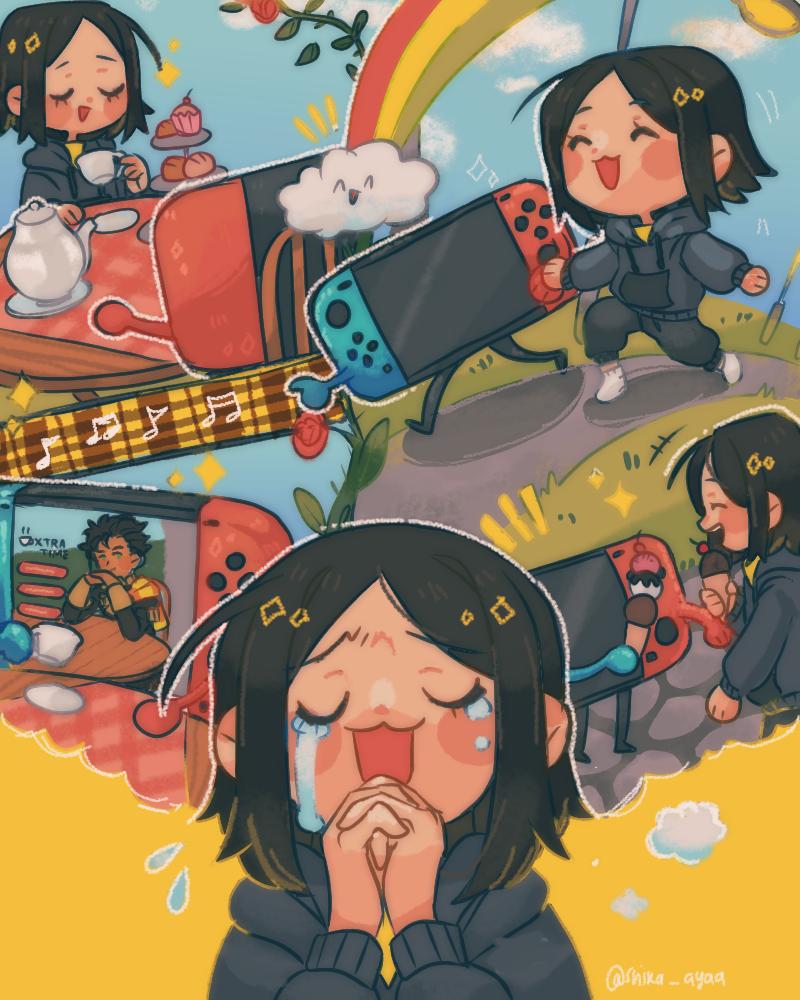 N-Nintendo Switch... Please,,, Illust of thaya! giftyouwant2020:50000YenGift giftyouwant2020 medibangpaint girl Christmas illustration