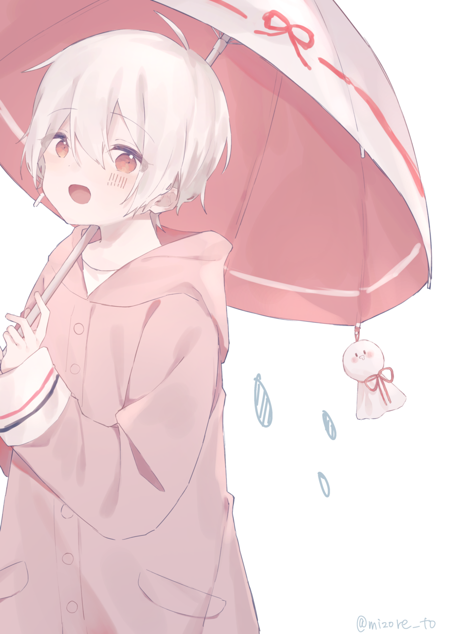 Illust of みぞれ umbrella kawaii white_hair