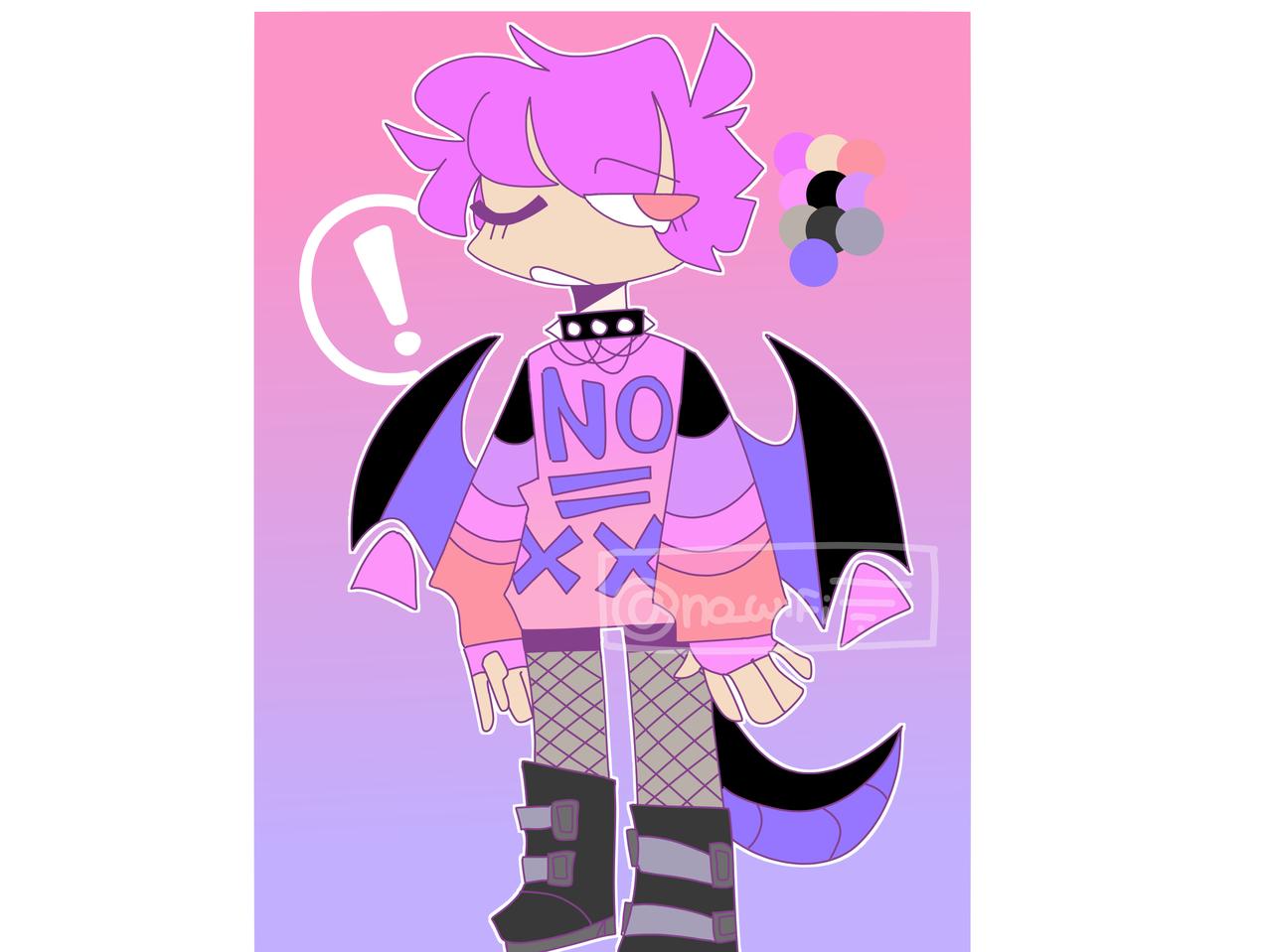 Custom for Bee cat! Illust of RiiRen oc illustration pastelgoth adopt medibangpaint custom