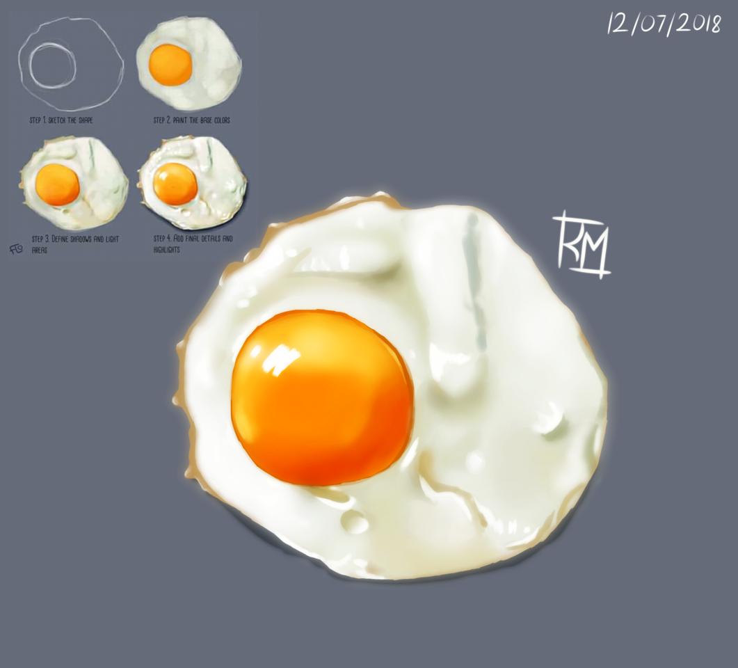 egg Illust of ROZMΛRI medibangpaint art Egg tutorial tamago