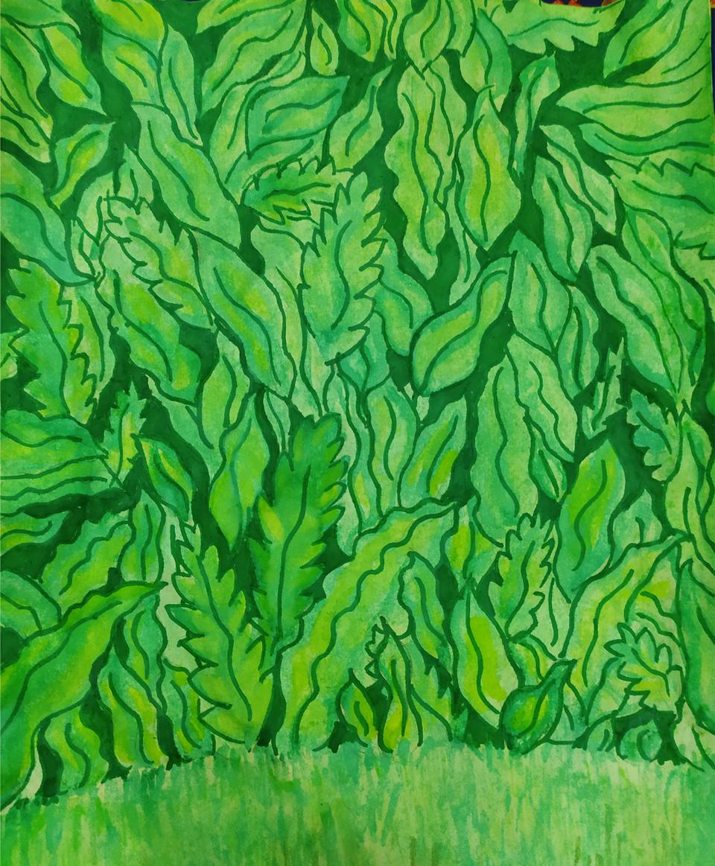 опять традишка 🙃 Illust of Korella medibangpaint watercolor paper plant green drawing markers plants