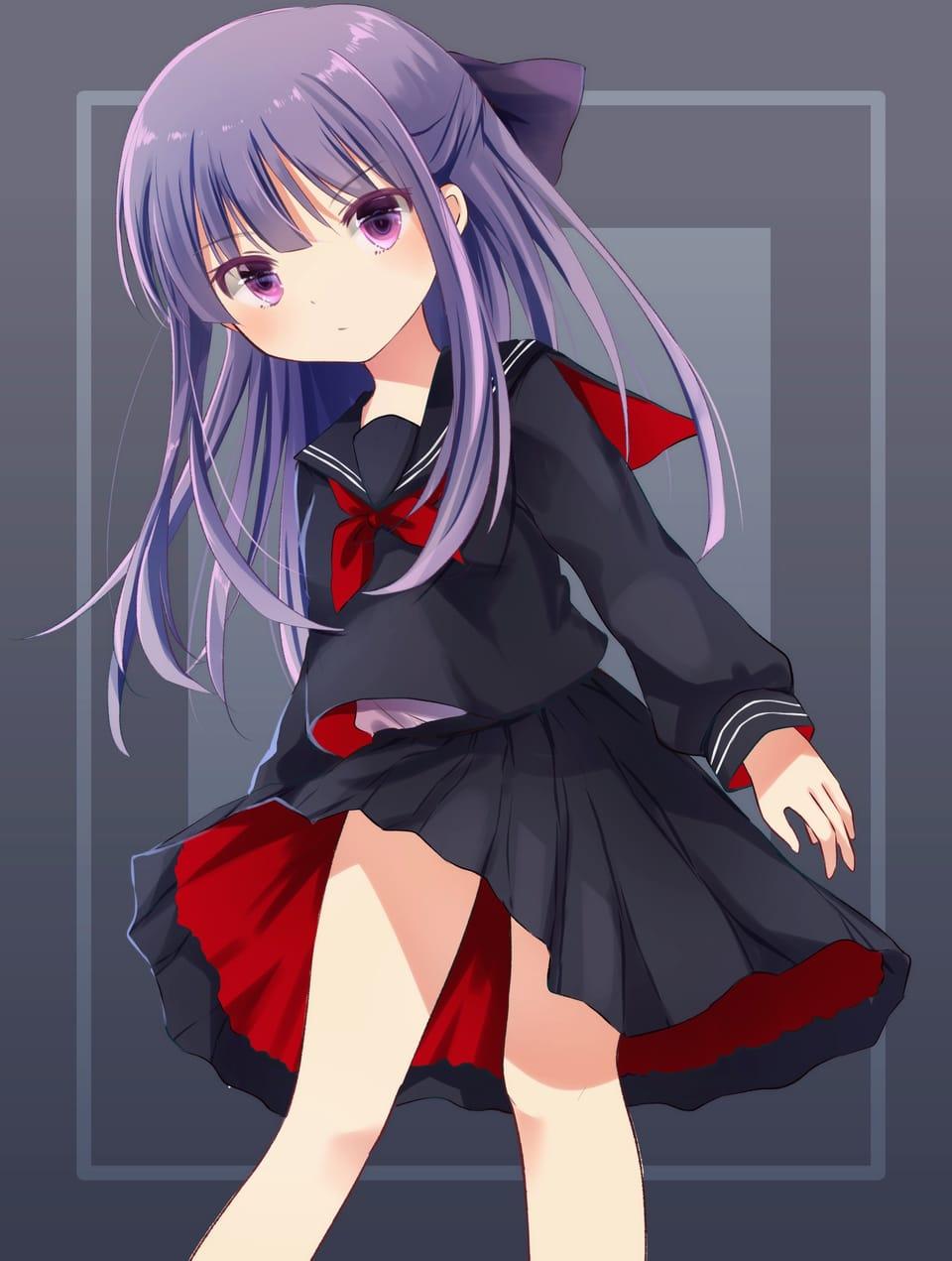 セーラー服少女 Illust of みずべのいきもの oc girl 創作少女 original sailor_uniform