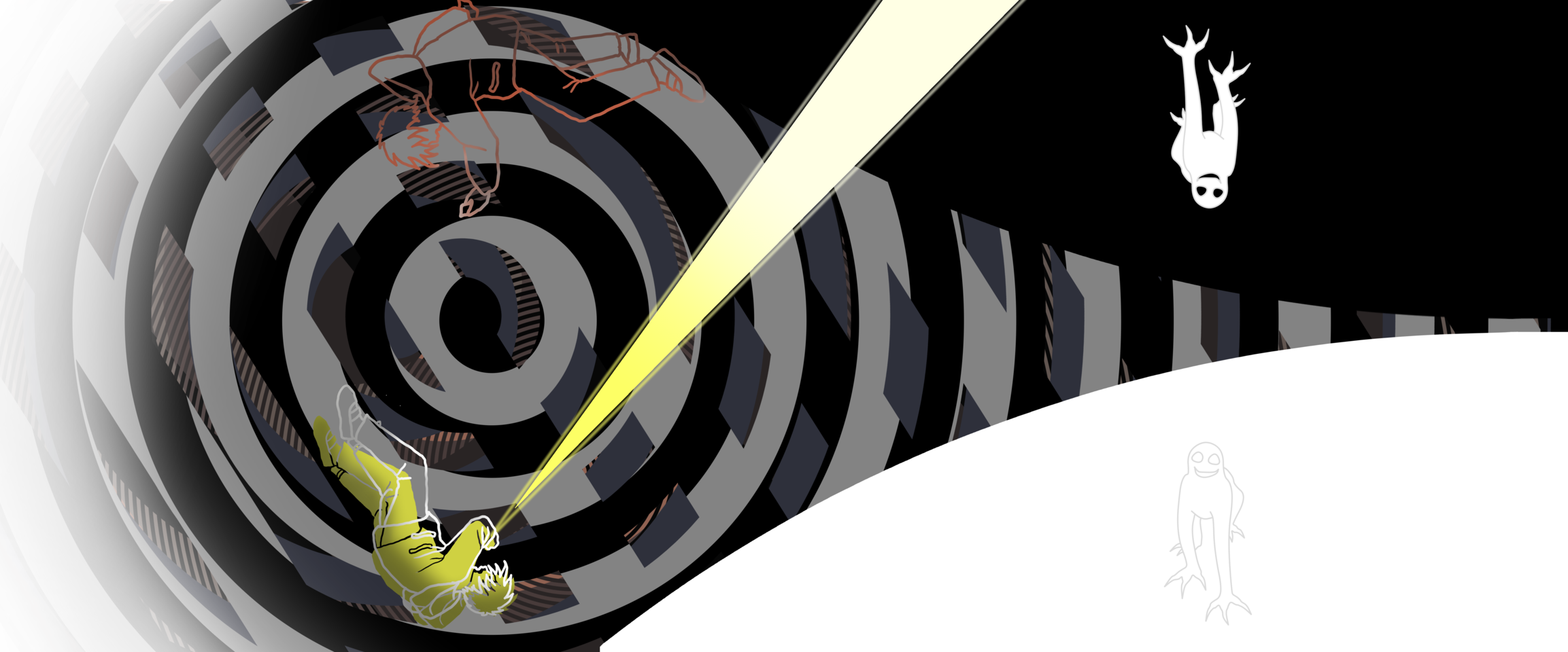 ぐるりと Illust of ながおけいこ Spinning_contest 表紙イラスト 小説 冒険物語 戦う イジメ 異世界 boy
