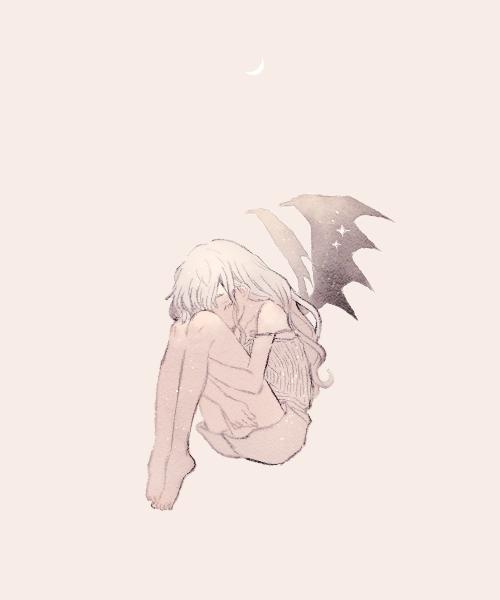 憂愁 Illust of 緑乃 original 羽 girl