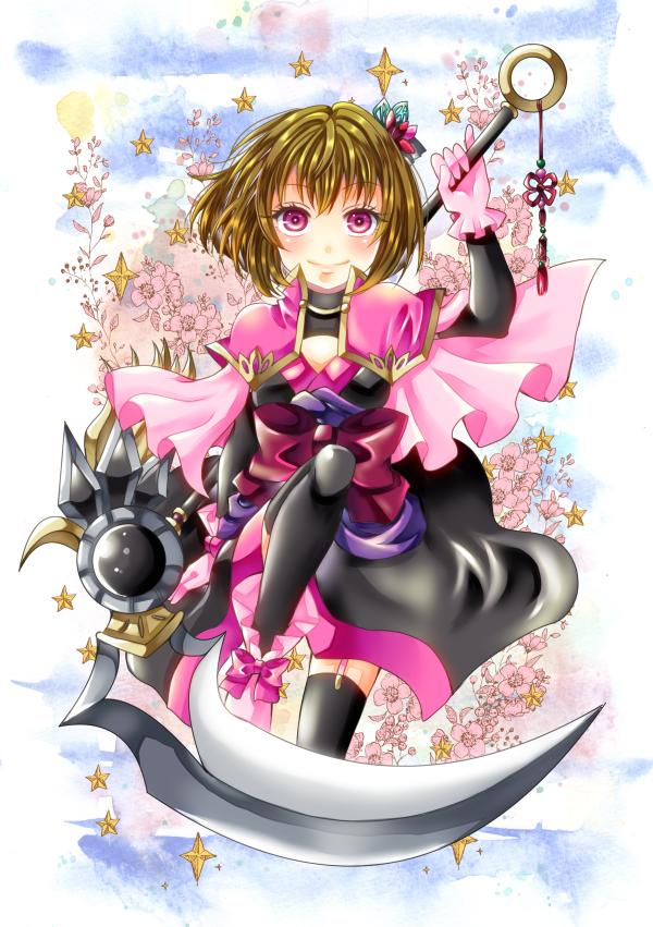 闇椿姫 Illust of ひらい祐夢 fantasy original Japanese_style oc