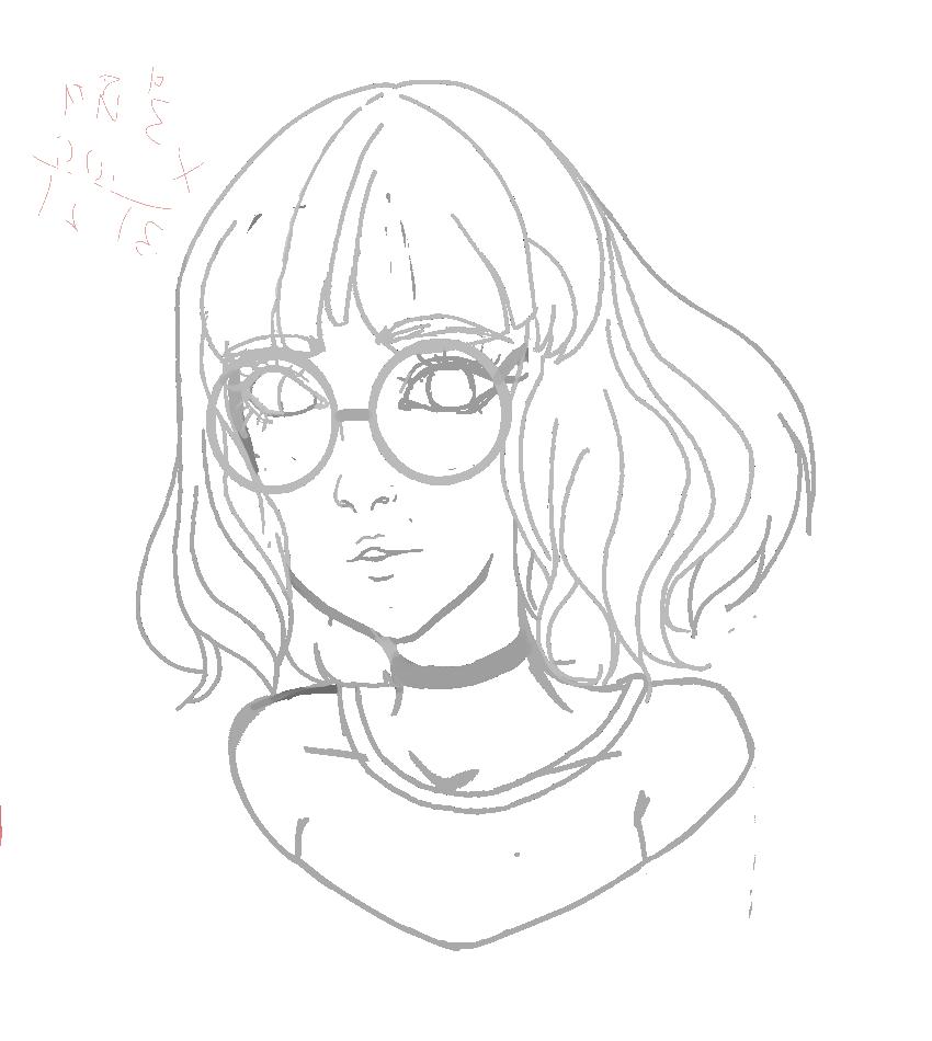 Glasses Lineart Sakura4193 Illustrations Art Street