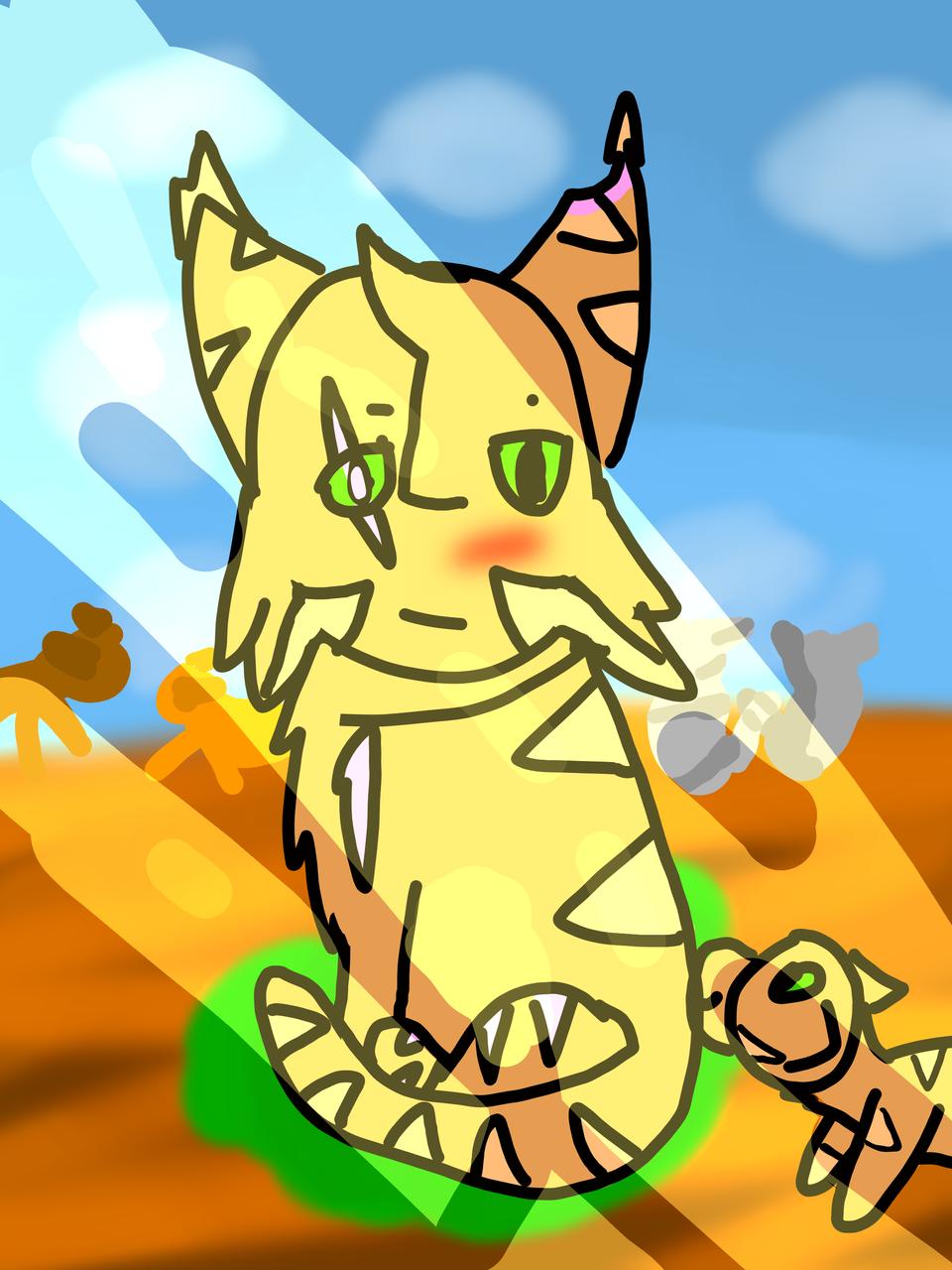 Longcoat Illust of Maple medibangpaint cat Flickerfur oc cute Longcoat warriorcats