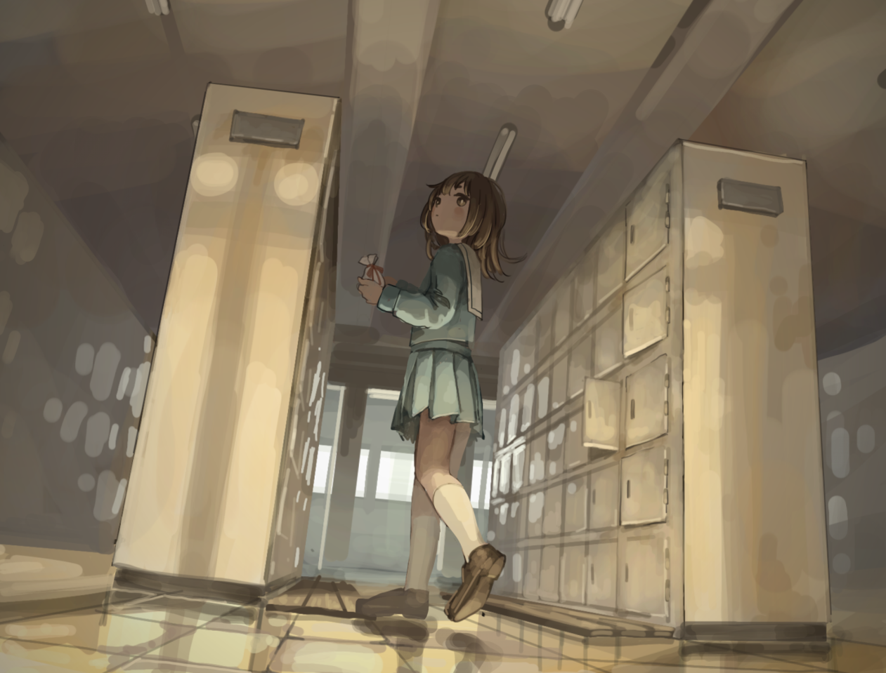 Illust of tnsn Feb2020:VDAY sailor_uniform 女子高生 girl