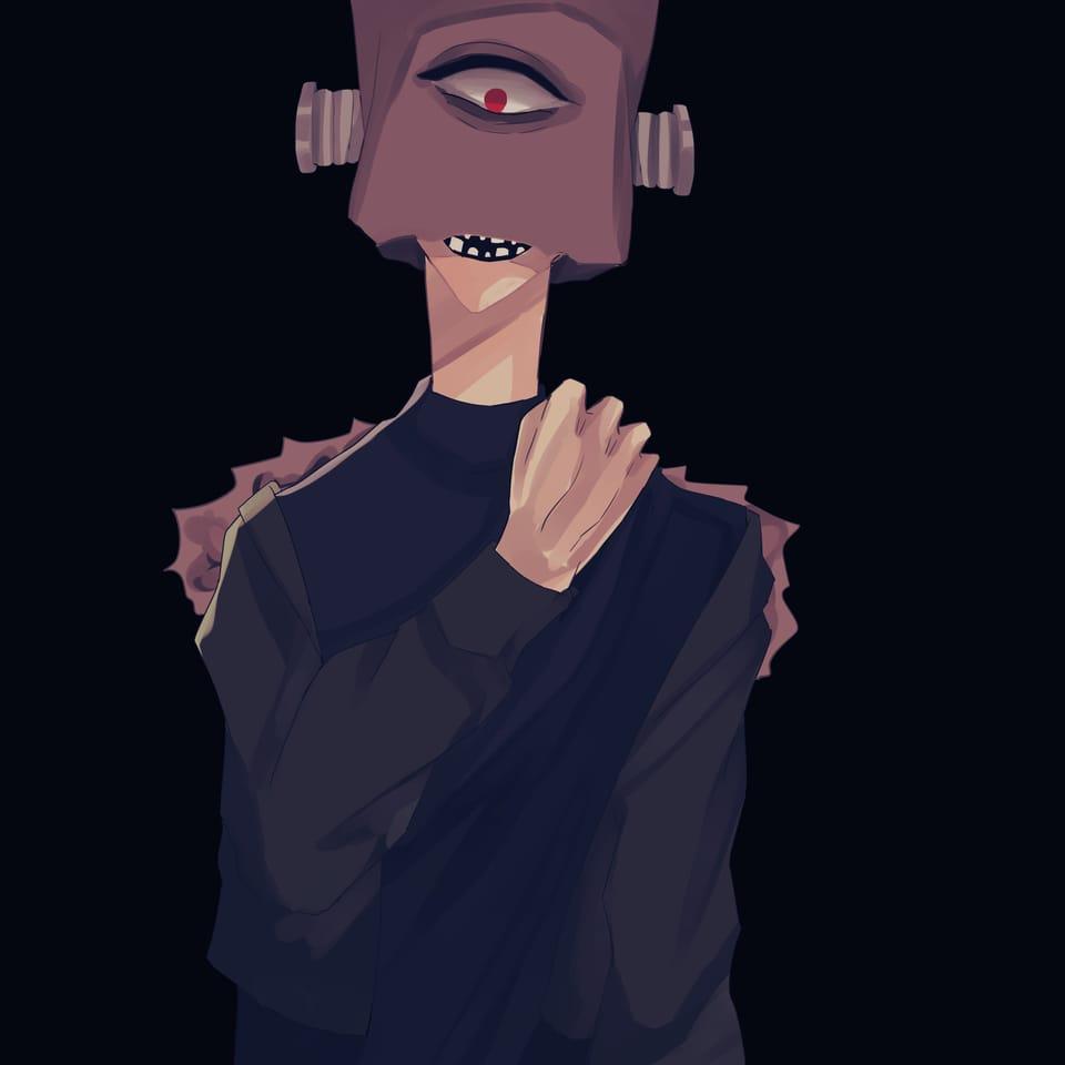 無題 Illust of おみそ#田舎同盟 boy CLIPSTUDIOPAINT 紙袋 black illustration 雰囲気
