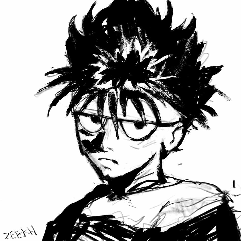 Hiei Illust of zeekh illustration drawingwhileblack fanart yuyuhakusho yyh art drawing blackartist hiei anime