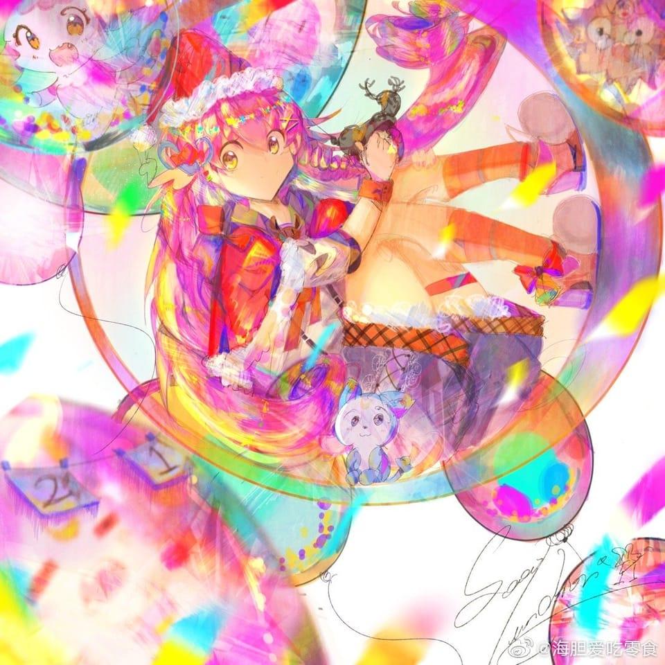 泡泡糖 Illust of Sea_unchier December2020_Contest:Santa January2021_Contest:OC