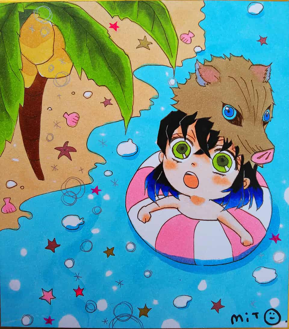 それはドングリじゃないぞ! Illust of ミト DemonSlayerFanartContest KimetsunoYaiba HashibiraInosuke