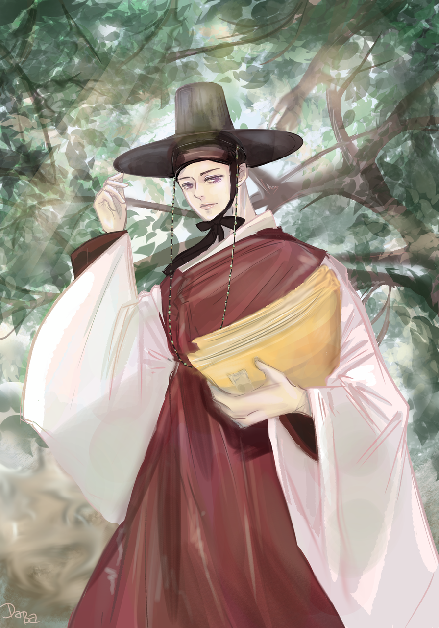 Hanbok Illust of daba_illust medibangpaint illustration Korean handsome art Hanbok 韓国
