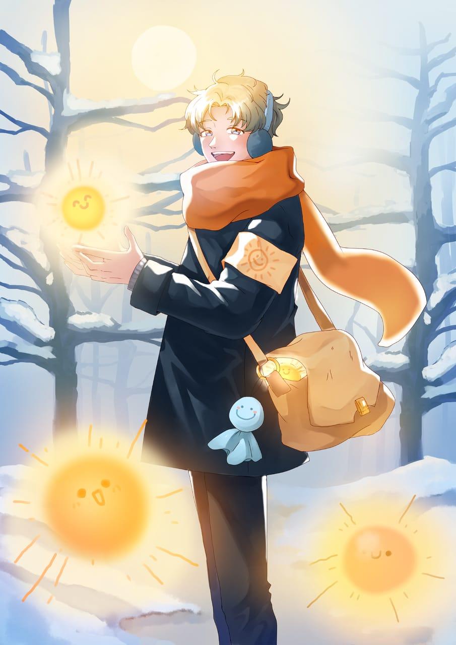 冬日的太陽 Illust of 柊石羽 January2021_Contest:OC 冬天 boy 太陽