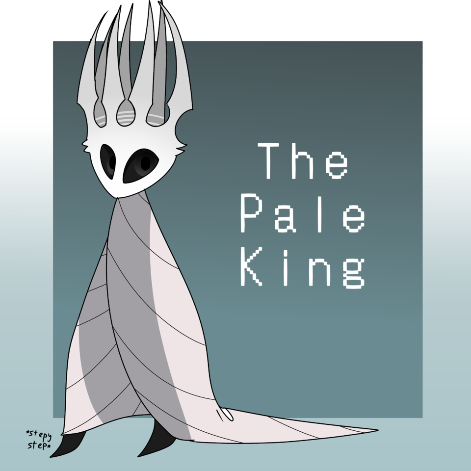 the pale king  Illust of ❄Ash❄ medibangpaint knight Hollow_Knight character pale white cute Hollow king the
