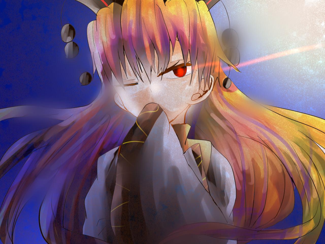 下手な純狐さん Illust of お茶湯 小6 Touhou_Project girl 純狐 original