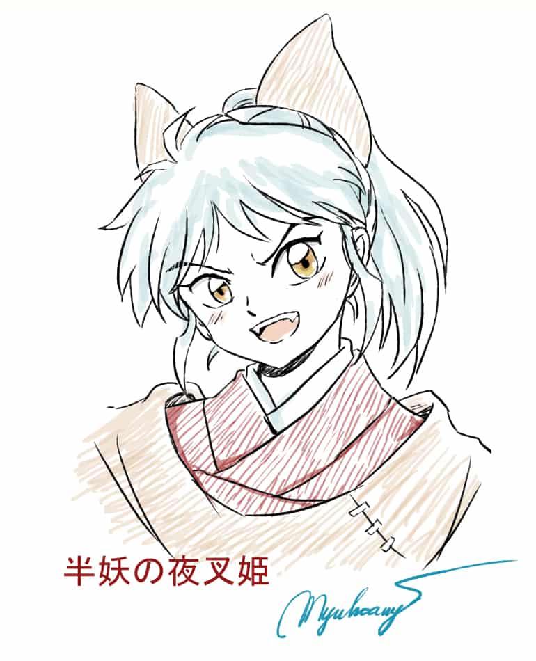 Moroha Illust of MyuHoang Hanyou no Moroha Inuyasha yashahime