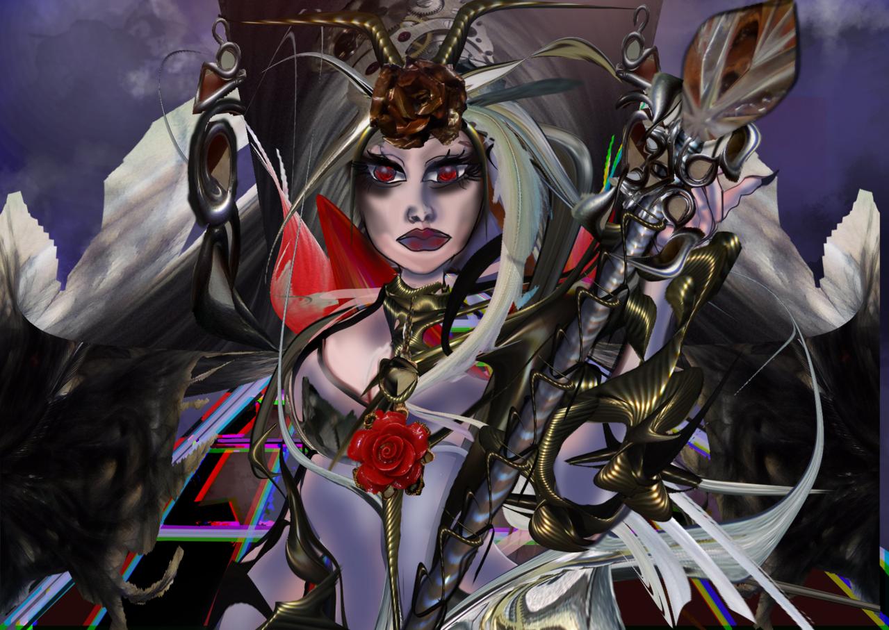Evrea dea della Superbia Illust of Grandicelli Susanna November2020_Contest:Cyberpunk
