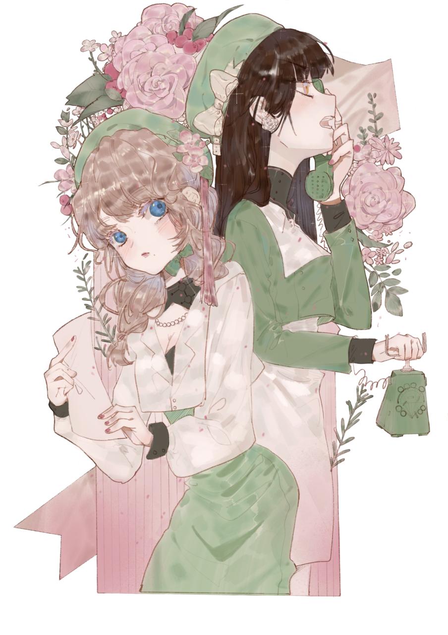 花染 Illust of 九木口冬 3rdMCPOillustration 美少女 花朵