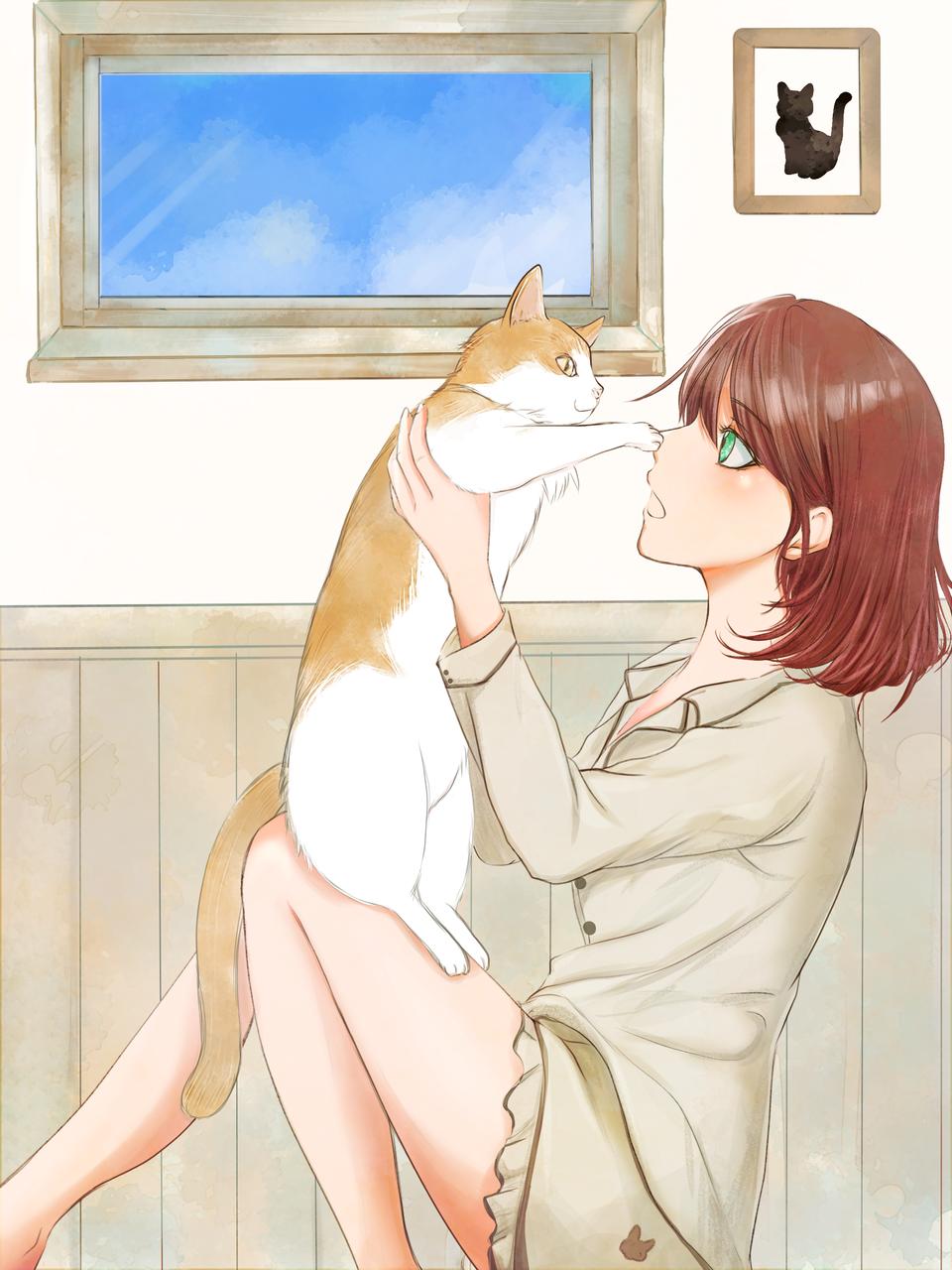 お鼻にタッチ! Illust of potyakko DOGvsCAT_CAT medibangpaint