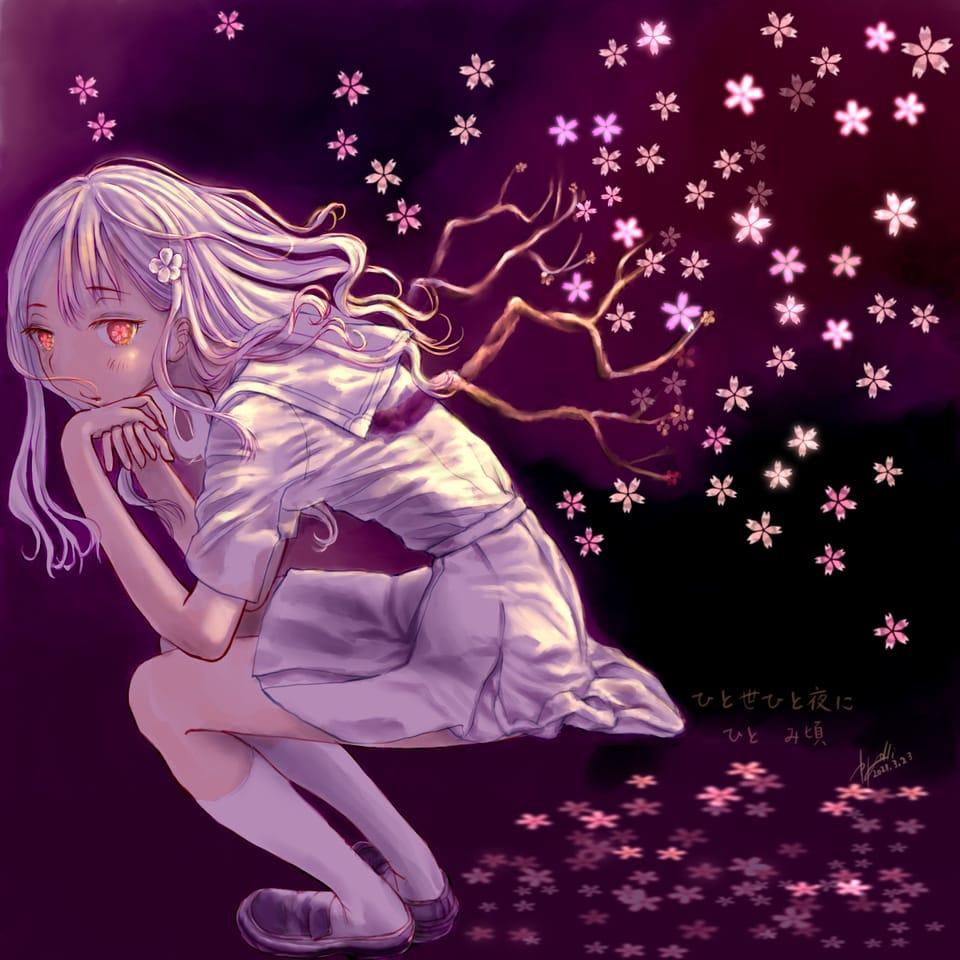 HITOYO HITOYONI HITO MIGORO Illust of かごめはん April2021_Flower oc sakura flower original