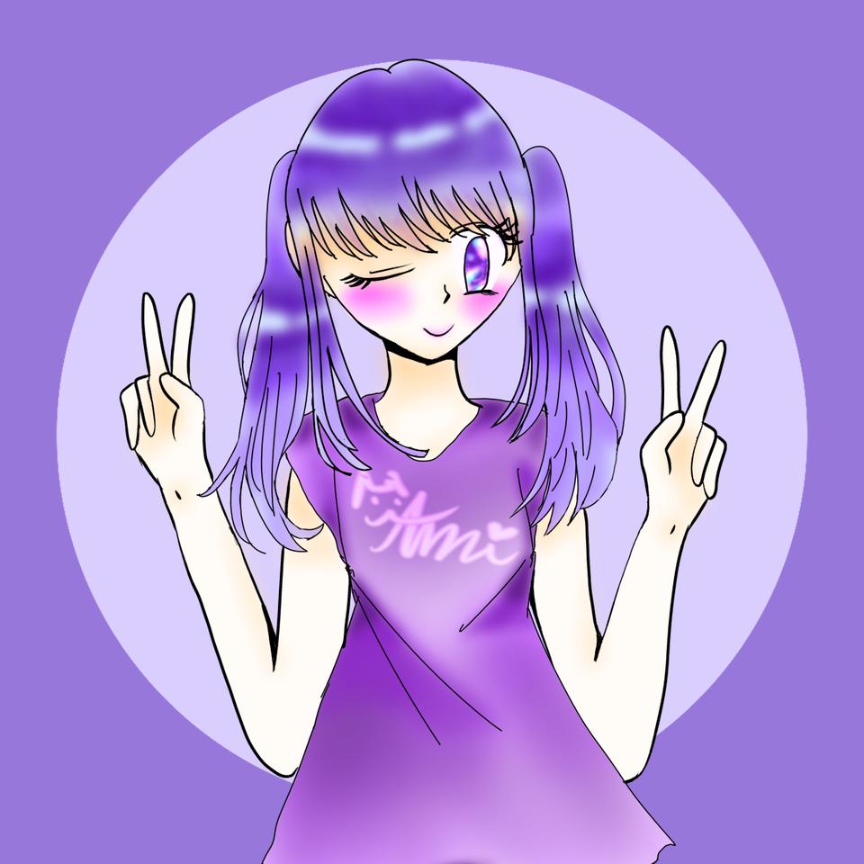 自分用アイコン画像 Illust of 𝔸𝕞𝕚ฅ( ̳• ·̫ • ̳ฅ) illustration ウィンク twin_ponytails ピース kawaii メディバンペイント girl がんばった icon smile