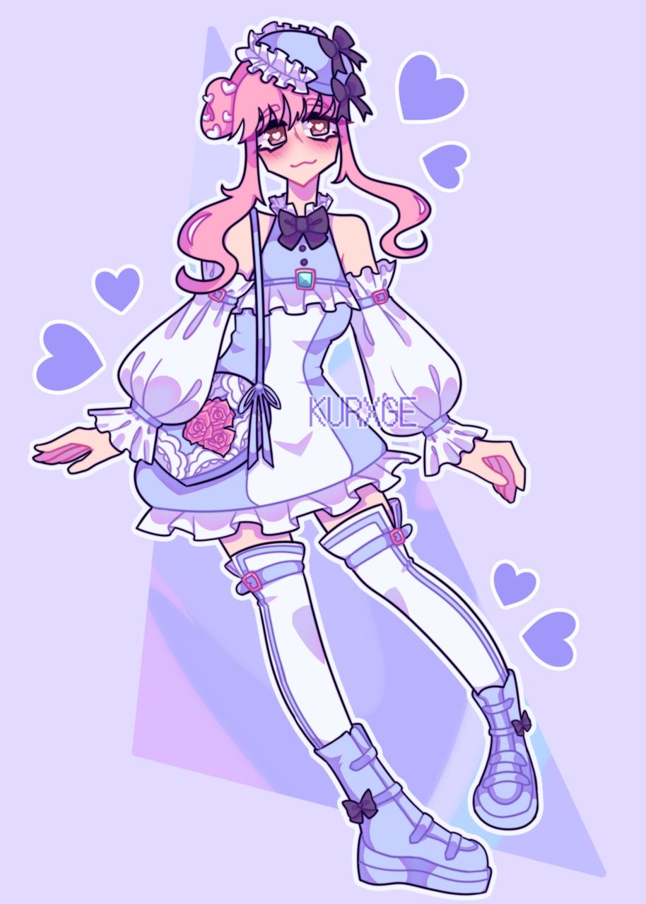 Love Nikki Collab Illust of kurxge anime girl lovenikki purple medibang pink aesthetic pastel