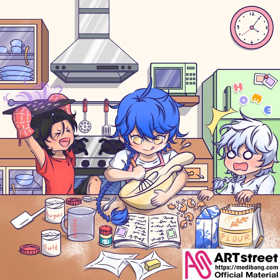 Let's Bake Cookies Illust of BlackRose_Pratista01 tracedrawing medibangpaint Trace&Draw【Official】
