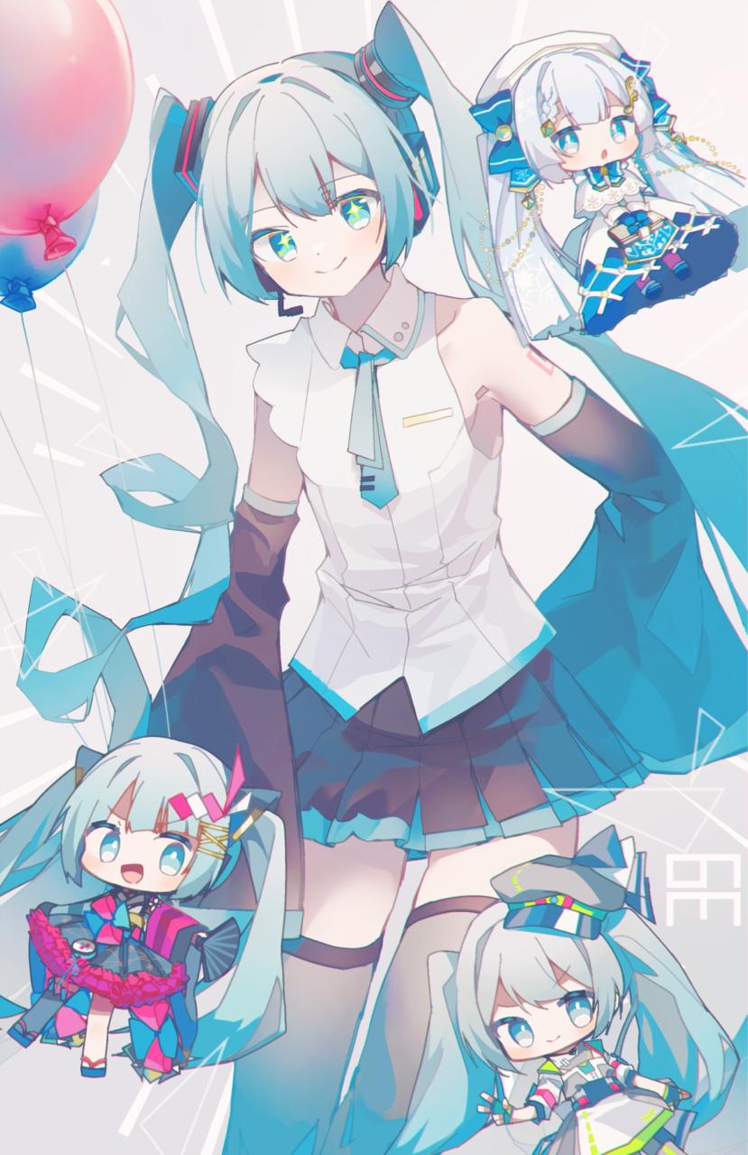 2020ー2021ミク!!! Illust of レヅキ VOCALOID hatsunemiku プロセカ マジカルミライ2020 ミクの日 初音ミクNT 雪ミク2021